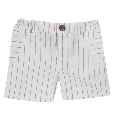 Pantaloni corti cotone tinto filo