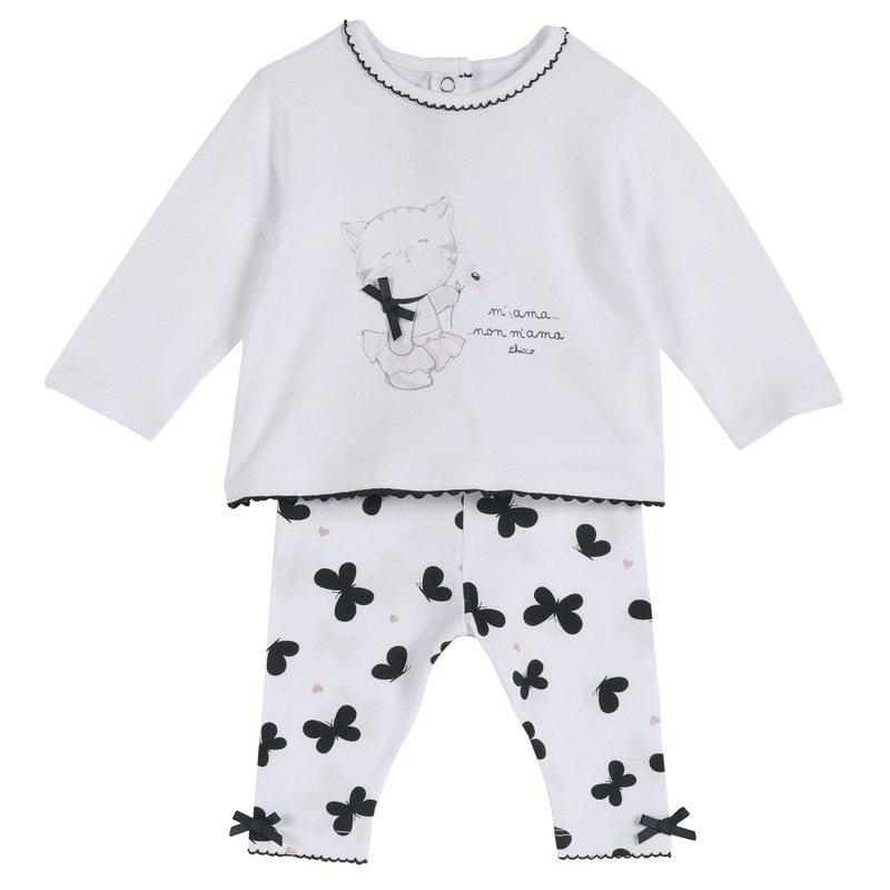Set maglietta e leggings con farfalline