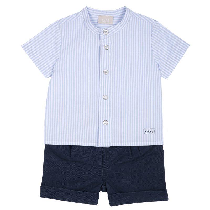 Set camicia con manica corta e pantaloncino