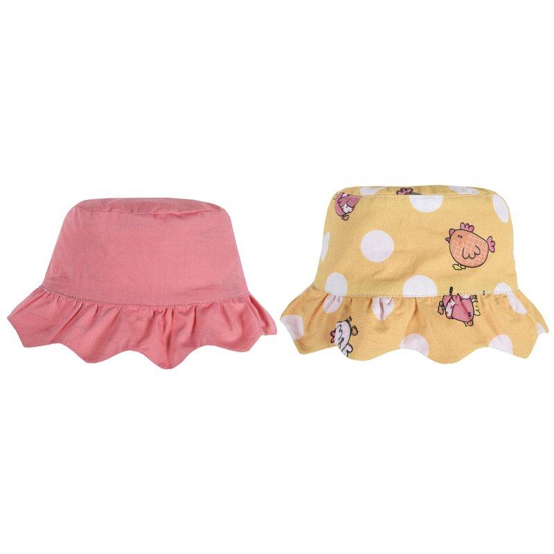 Cappello reversibile con falda arricciata