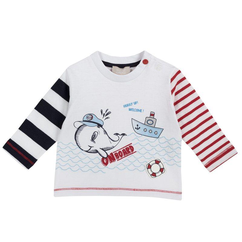 Maglietta con stampa balena