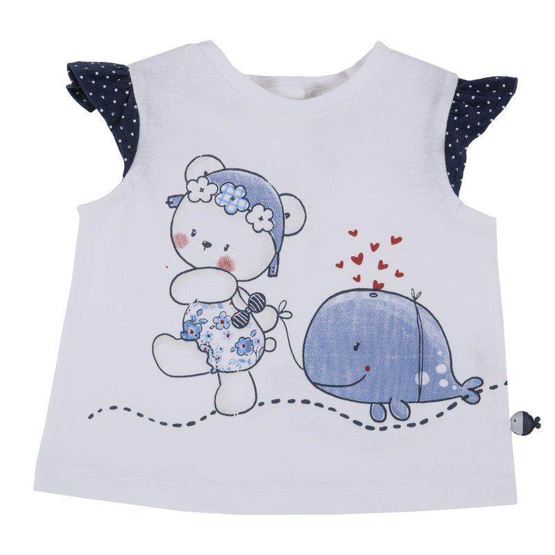 T-shirt con orsetta