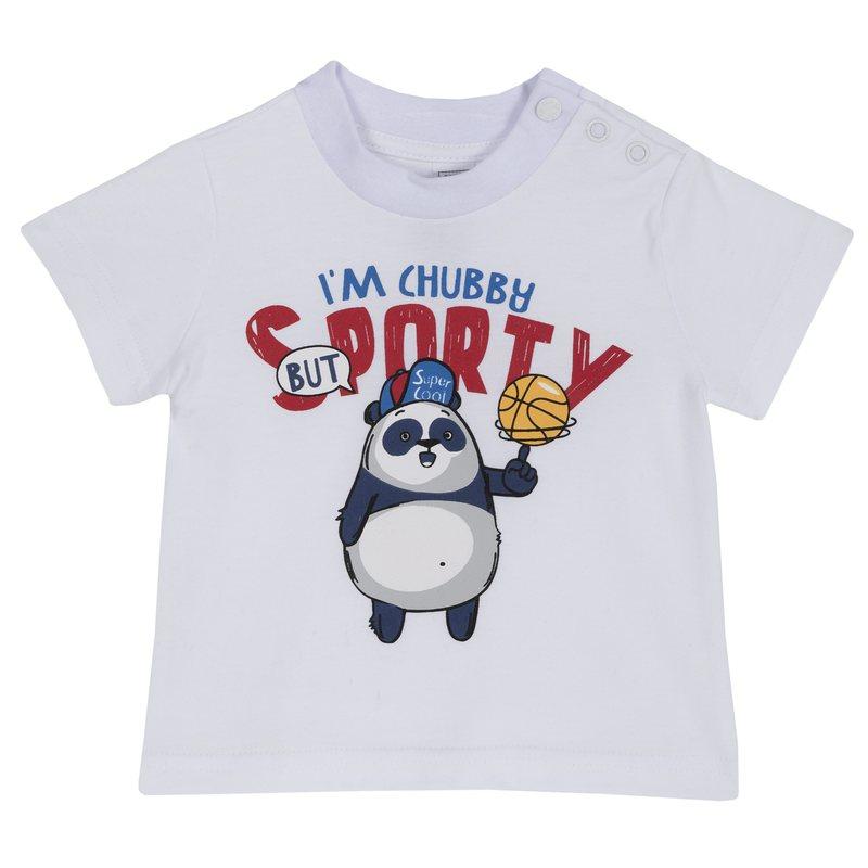 T-shirt con stampa e manica corta