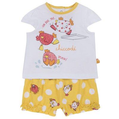 Set t-shirt con gallinelle e pantaloncini