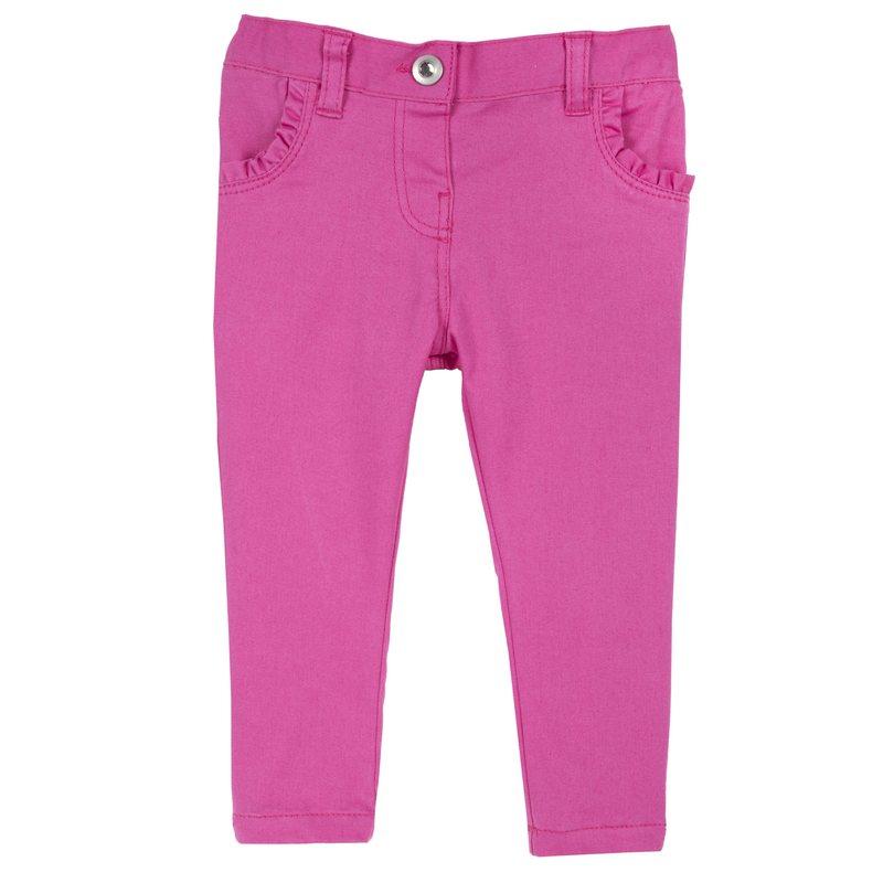 Pantalone con piccoli volant