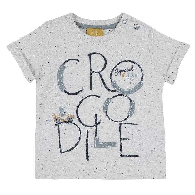 T-shirt con stampa 9M NATURALE CHIARO