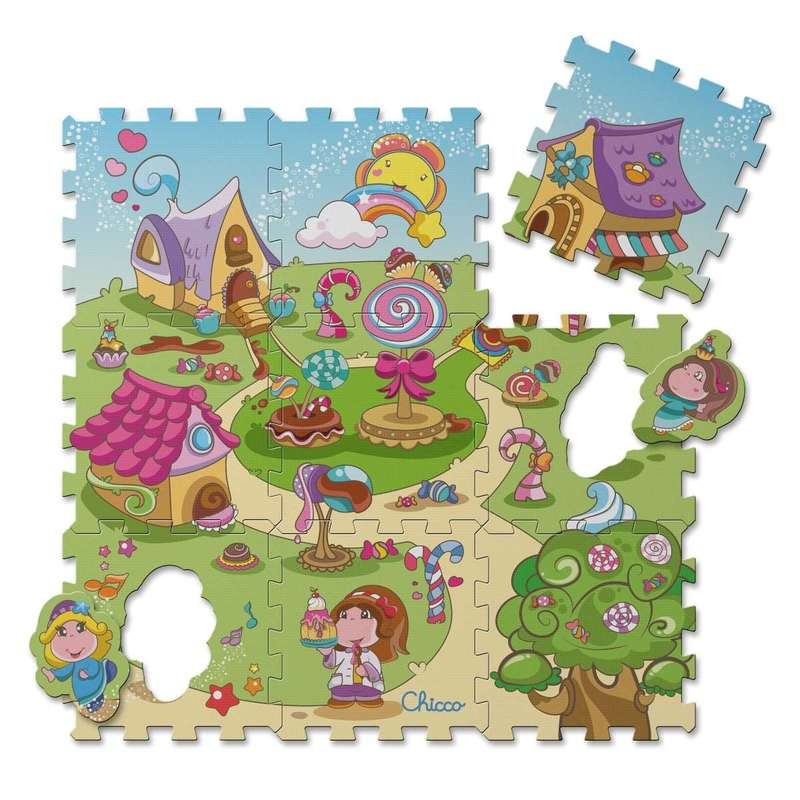 Tappeto Puzzle Caramelle