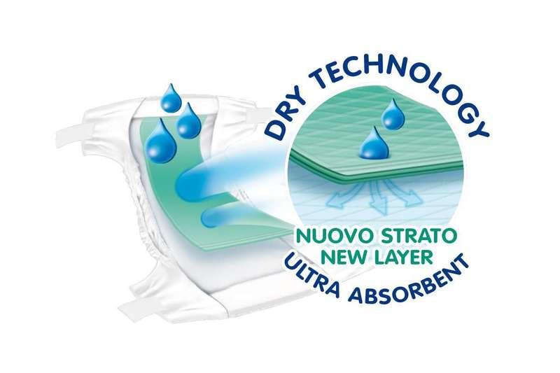 Pannolini DryFit Advanced Maxi 8-18 kg taglia 4
