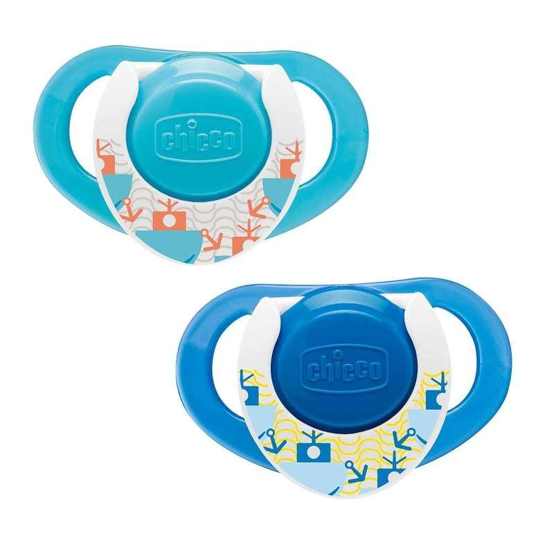 Succhietto Physio Ring 12m+ Azzurro Caucciù