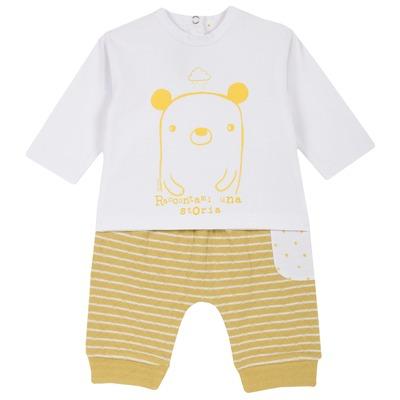 Set maglietta con orsetto e pantalone a righe