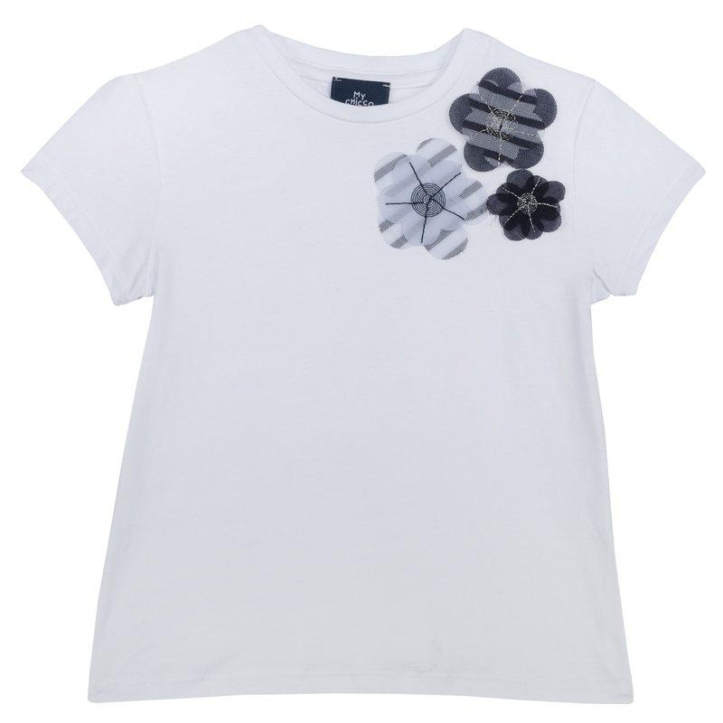 T-shirt con fiori