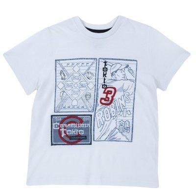 T-shirt con stampa baseball