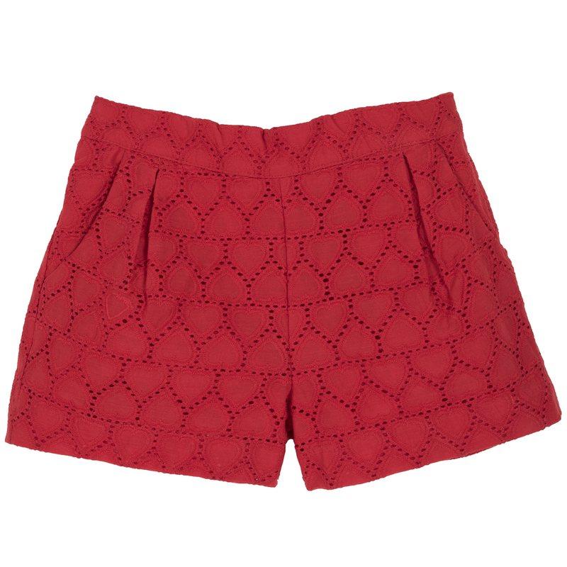Pantalone corto in sangallo