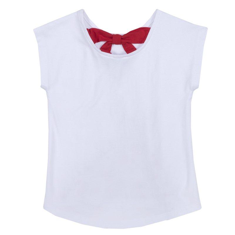 T-shirt con fiocco sul retro