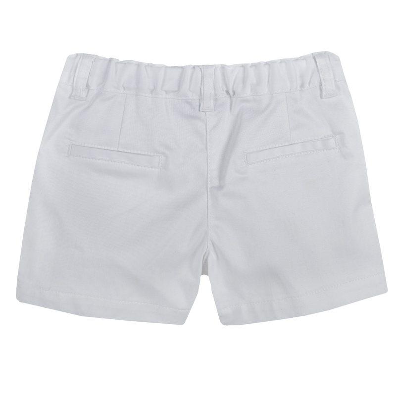 Pantaloncini in tessuto rasetto stretch