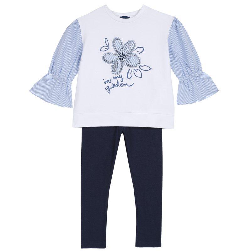 Set maglietta con fiore e leggings