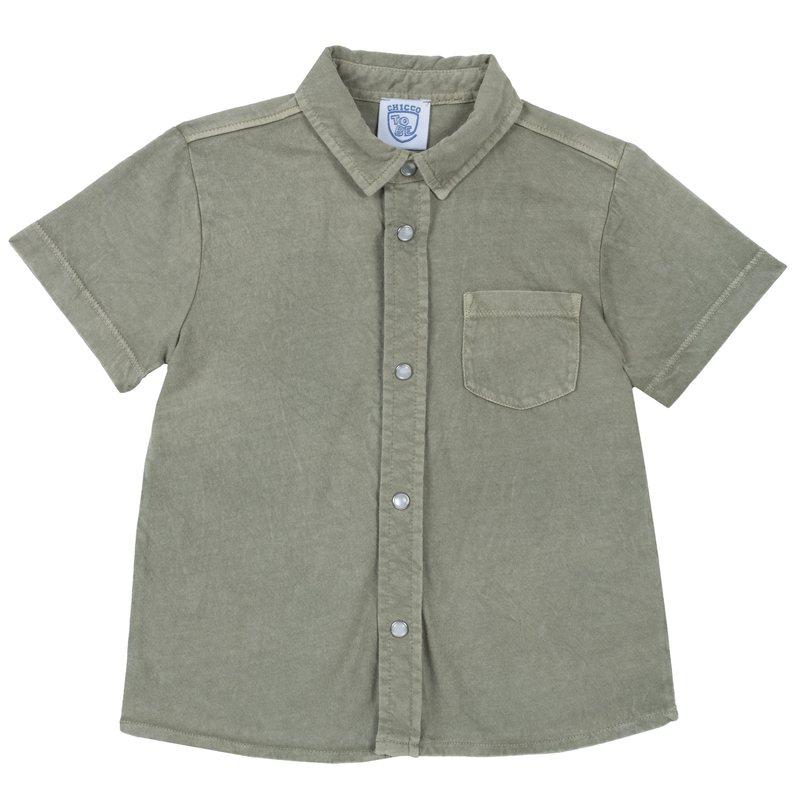 Camicia di cotone con manica corta