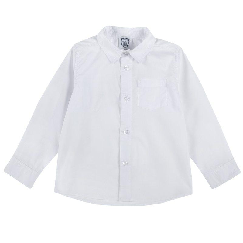 Camicia con manica lunga e taschina