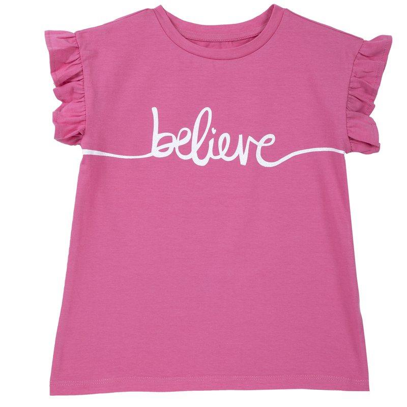 T-shirt con manica corta e volant