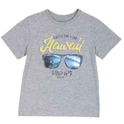 fba56b98804465 T-shirt di cotone con manica corta e stampa