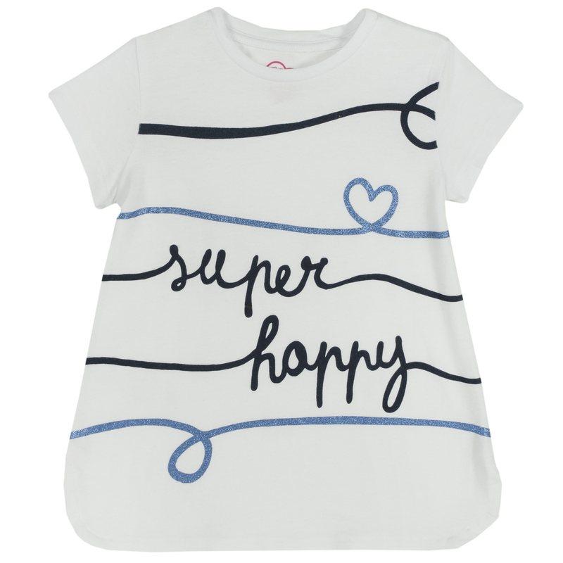 T-shirt Super Happy 9M BIANCO