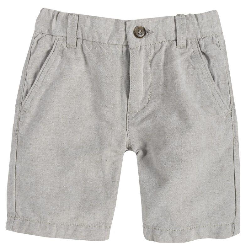 Pantalone corto di lino e cotone 2Y NATURALE MEDIO