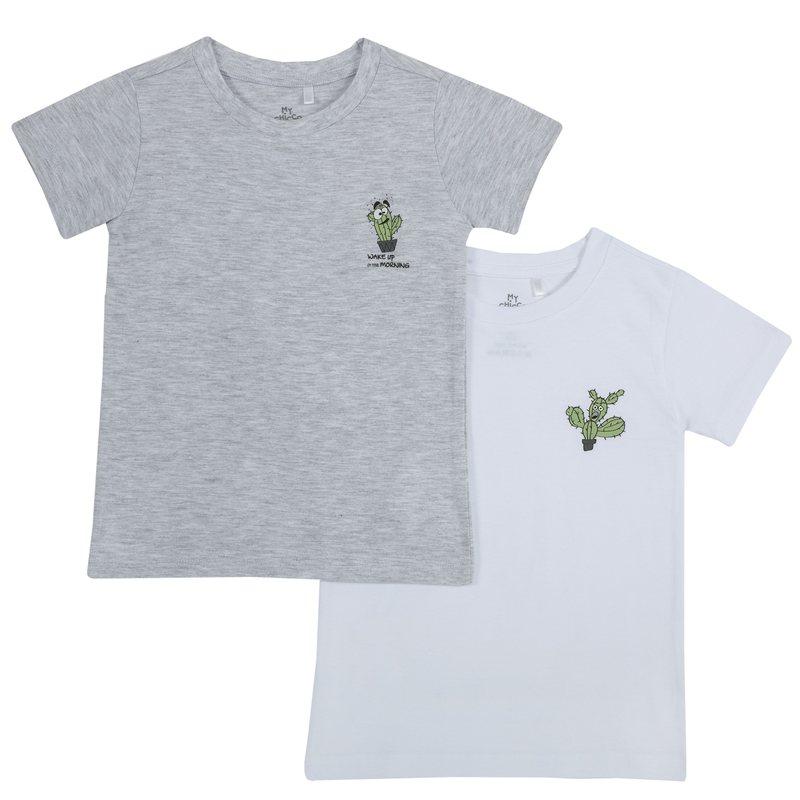 Set magliette intime con cactus