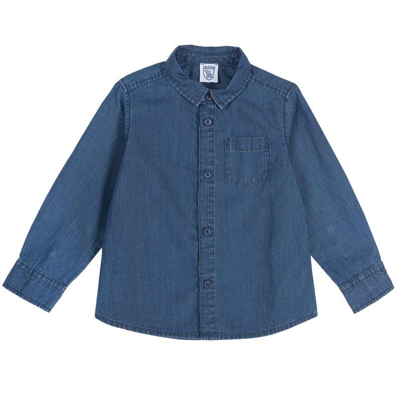 Camicia di cotone con taschina