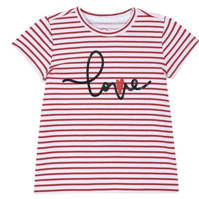 T-shirt Love a righe