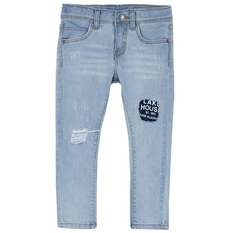 Jeans lungo con toppa