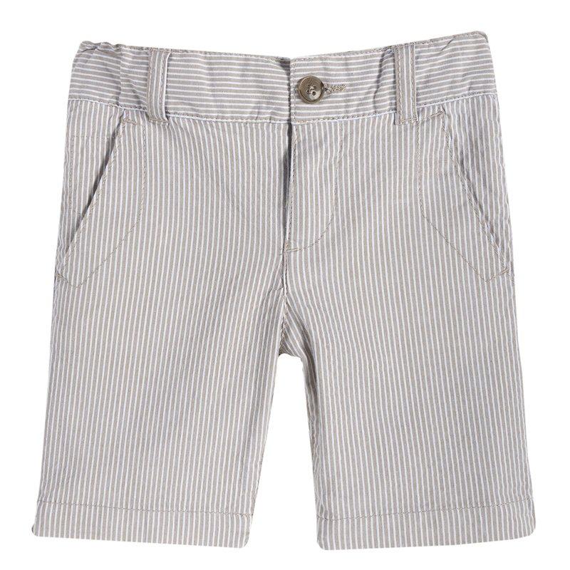 Pantalone corto di cotone con fantasia a righe