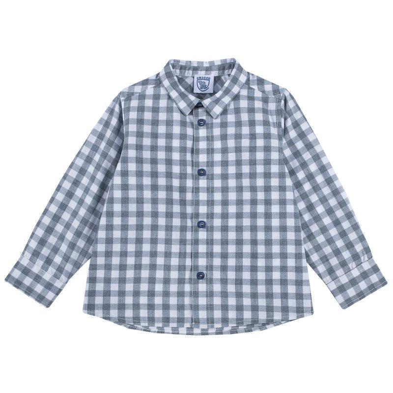 Camicia di cotone a quadretti