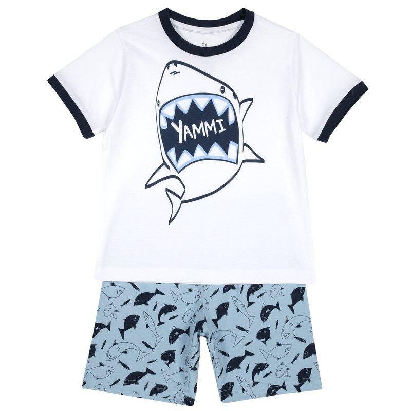 Pigiama corto con squalo