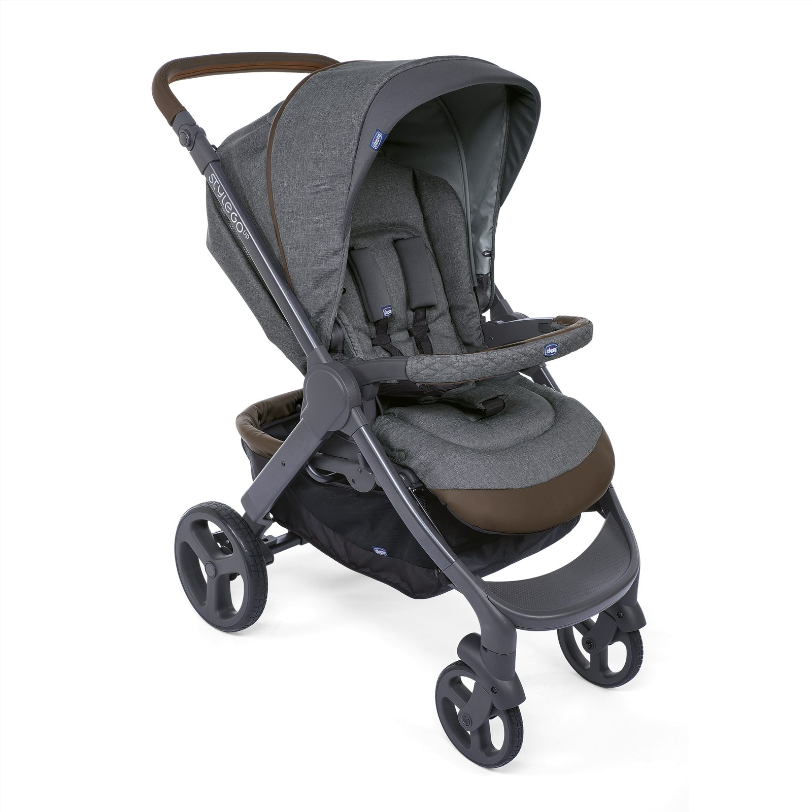 detailed look 71ed2 de482 Passeggino Stylego Up Crossover Cool Grey