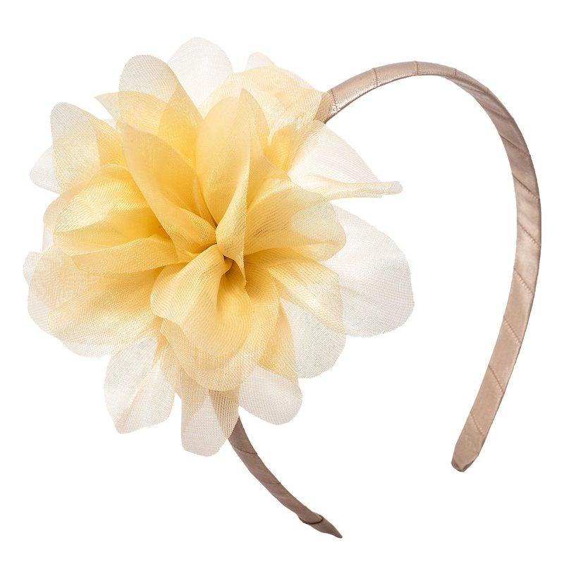 Cerchietto con grande fiore