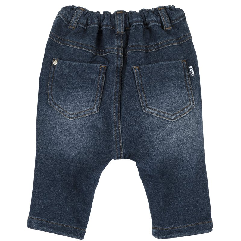 Jeans con laccetto in contrasto