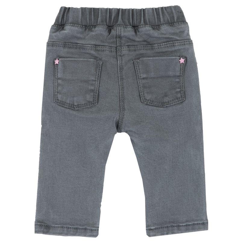 Pantalone di denim stretch con stampa