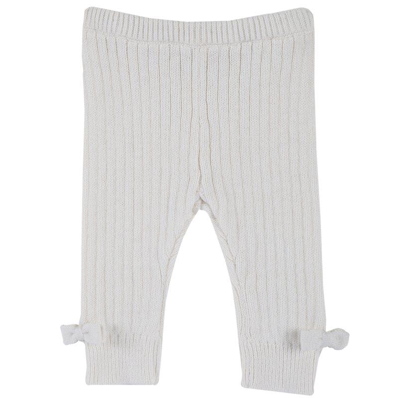 Leggings di tricot con fiocchetti