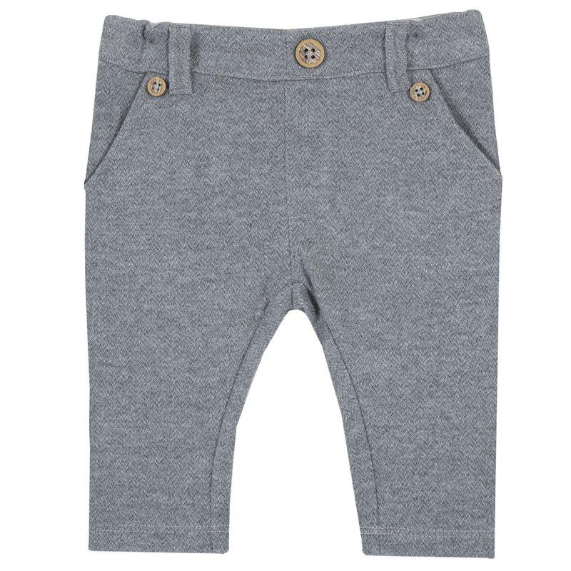 Pantalone lungo di interlock jacquard