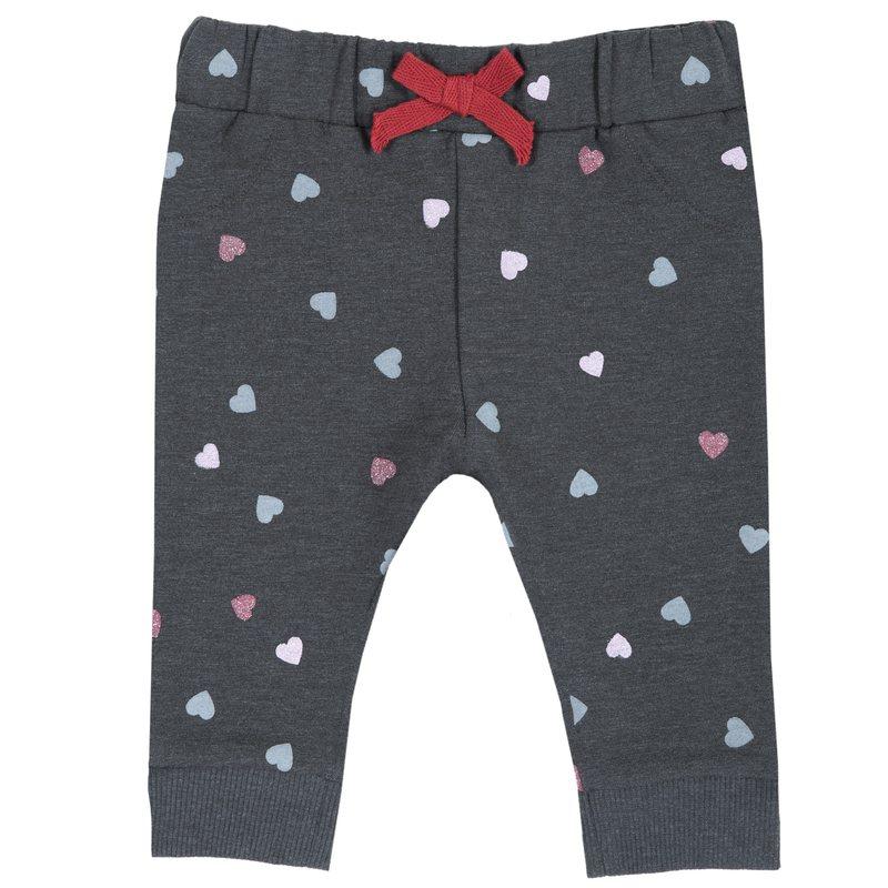 Pantalone di felpa con fantasia all over e fiocchetto