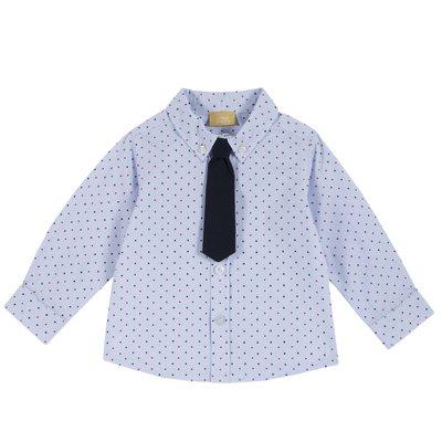 Camicia con pois e cravatta