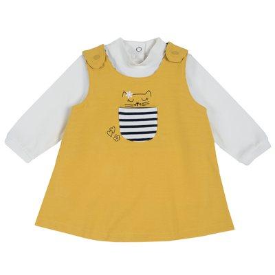 Set maglietta con manica lunga e vestito scamiciato
