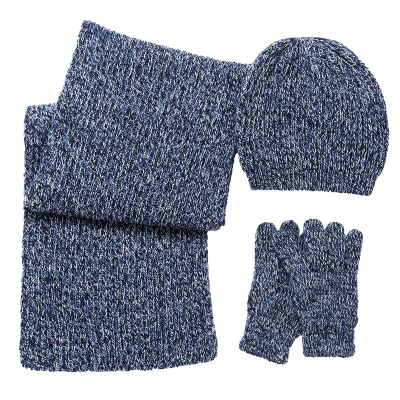 Scatola regalo cappello, guanti e sciarpa