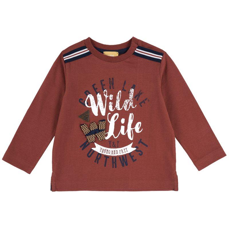 T-shirt con stampa Wild Life