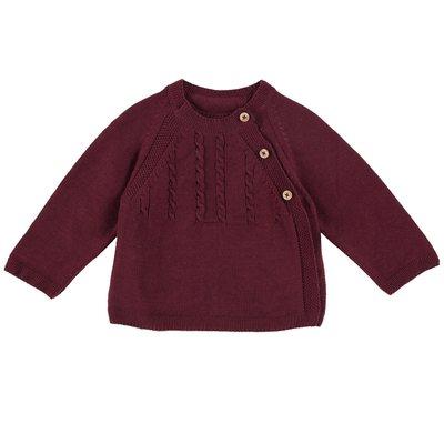 Cardigan di tricot con bottoni