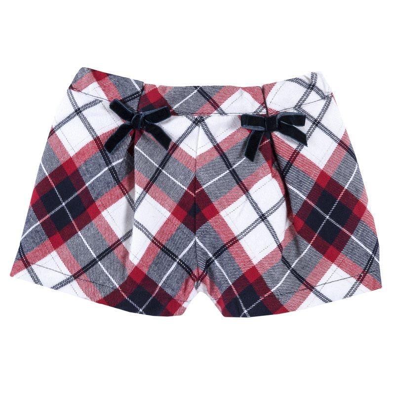 Pantaloncino di flanella con fiocchetti