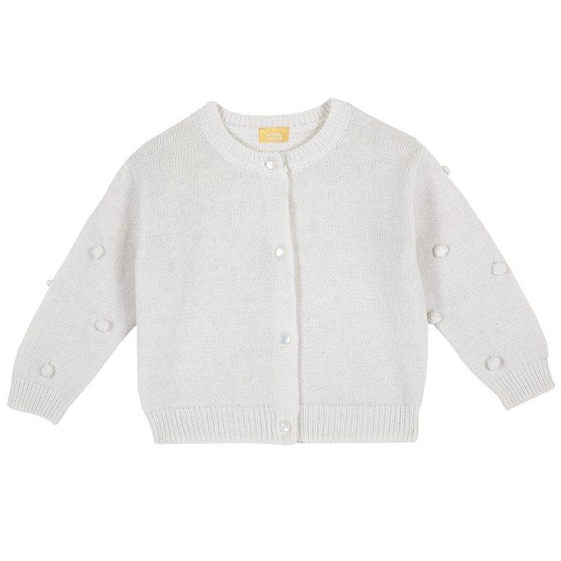 Cardigan di tricot con applicazioni
