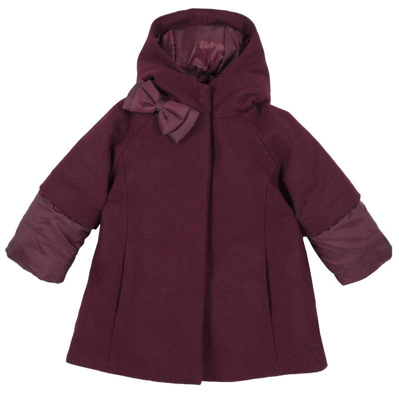 Cappotto di panno con fiocco