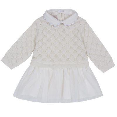 Vestitino di tricot misto cotone e lana