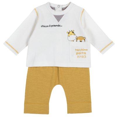 Set blusa con tigrotto e giraffina e pantalone lungo